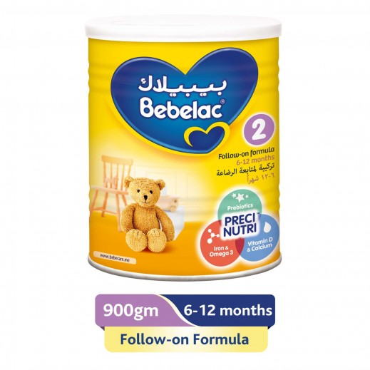 Bebelac Follow On Milk Stage 2 900 g (From 6-12 Months)