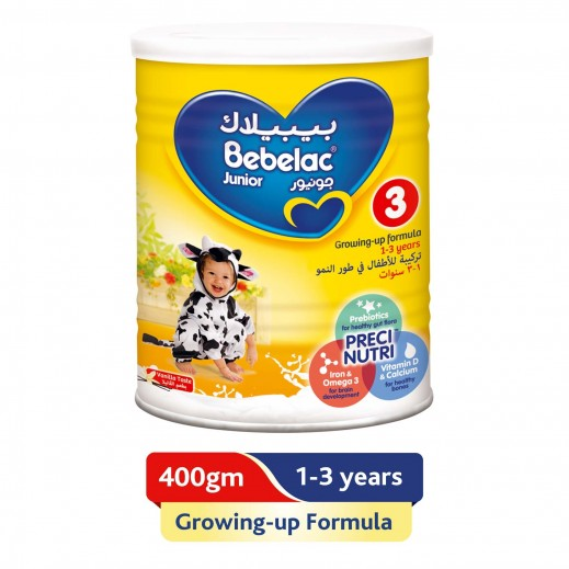 Bebelac Growing Up Milk Junior Stage 3 400 g (From 1 - 3 Years)