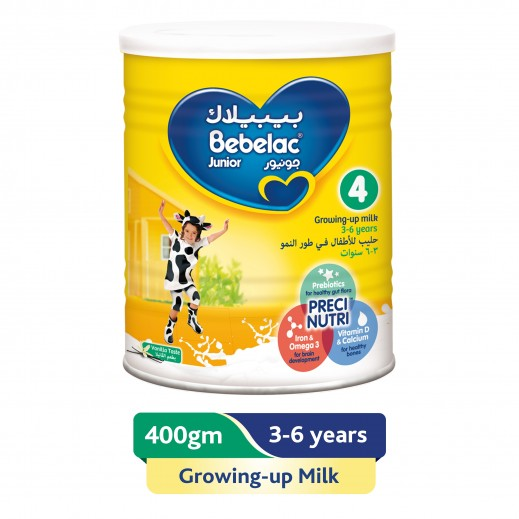 Bebelac Growing Up Milk Junior Stage 4 (3 - 6 Years) 400 g
