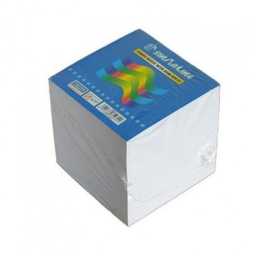 Sinarline White Memo Pad Cube