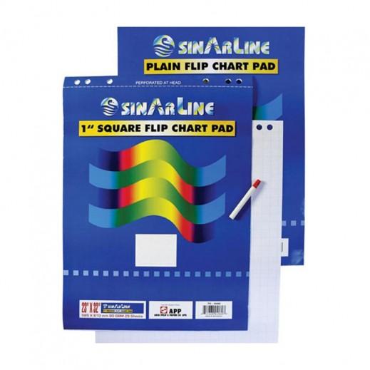 Sinarline Flip Chart Pad 25 sheets Plain
