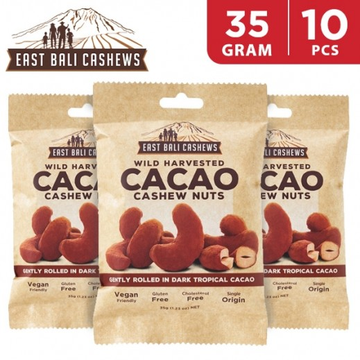 East Bali Cashews Cacao Cashew Nuts 10 x 35 g