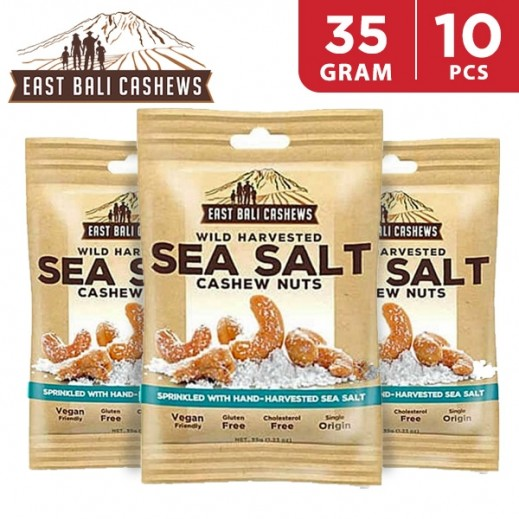East Bali Cashews Sea Salt Cashew Nuts 10 x 35 g