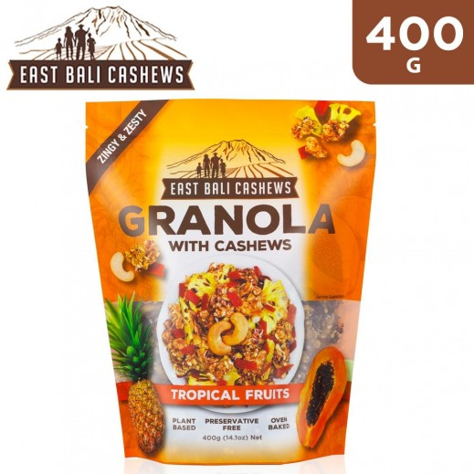 East Bali Cashew Granola Tropical Fruits Cereal 400 g