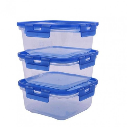 Komax BB Lock Plastic Container 3 Pieces Set - 1.2 L