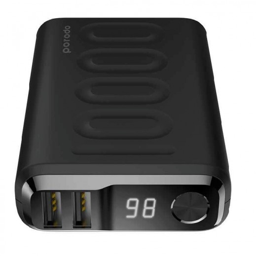 Porodo 10000mAh Power Bank - Black