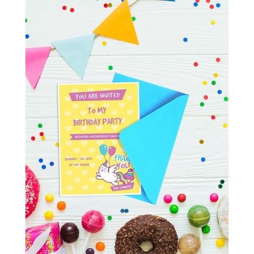 Birthday Invitations - 25 cards & Envelops - BC003 - delivered by Berwaz.com