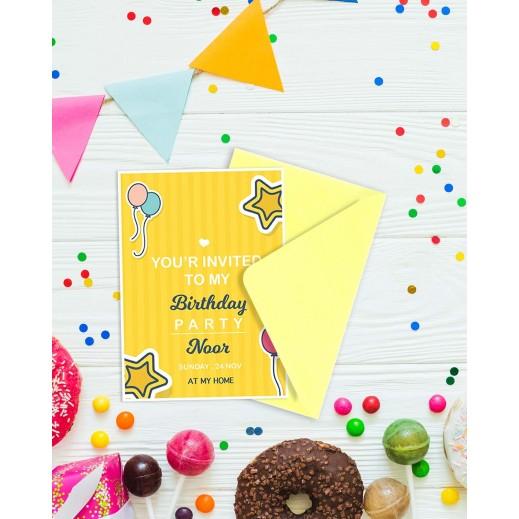 Birthday Invitations - 25 cards & Envelops - BC514 English - delivered by Berwaz.com