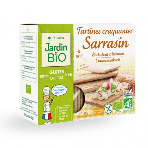 Buy Jardin Bio Tartines Craquantes Sarrasin 80 Sans Gluten 150 G