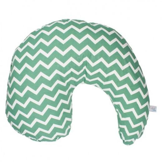 Dr.Brown's Gia Nursing Pillow Cover Green Chevron