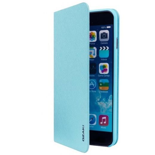 Ozaki o!Coat 0.4 + Folio Ultra Slim & Light Case For Iphone 6 Plus Turqoise OC581LB