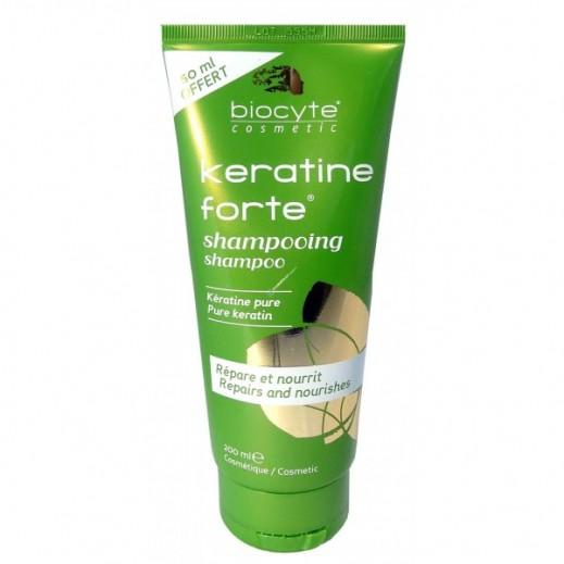 Biocyte Keratine Forte Shampoo Repairing & Volumizing 150 ml + 50 ml Free Prom