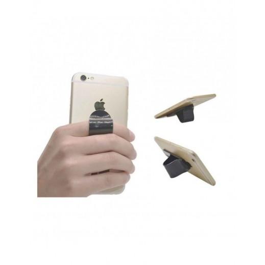 Multi Band Finger Grip Self Standing & Car Holder Black MD-C-005