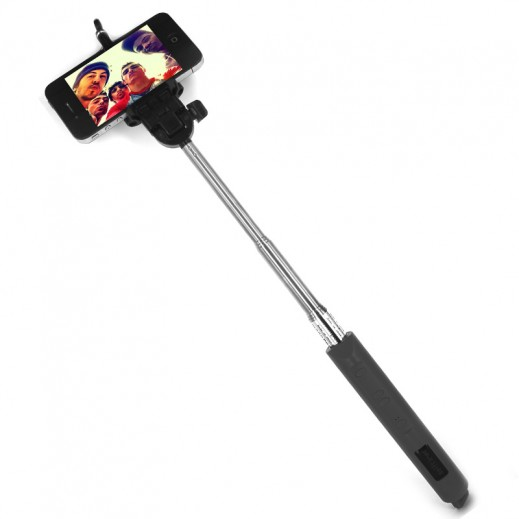 Wireless Monopod For Android With Zoom- Black