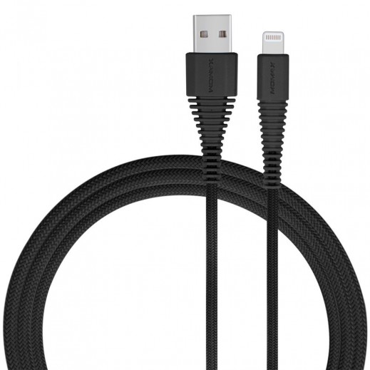 MoMax Lightning Cable For Apple Devices 1.2M - Black