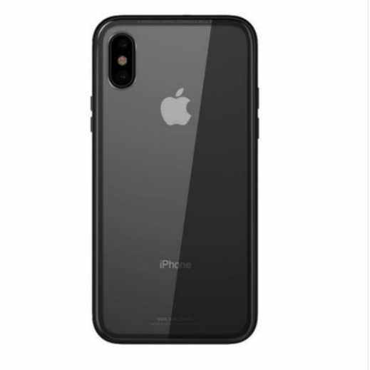 WK Design Glass Case for iPhone XS / X – Black