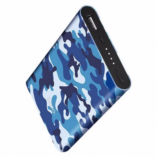 Hoco Camouflage Series 10,000 mAh power bank  - Blue