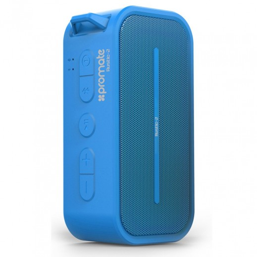 Promate Portable Water Resistant Wireless Speaker Blue