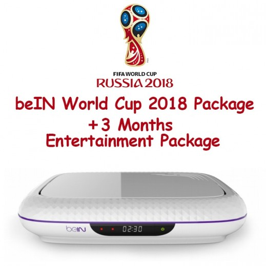 beIN World Cup 2018 + 3 Months Entertainment Packages + Recording Receiver Bundle (New Subscription Only)