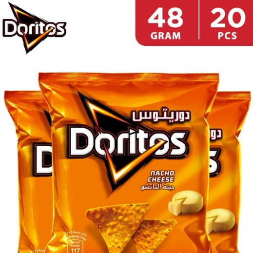 Doritos Nacho Cheese Tortilla Chips Duplex 20 x 48 g