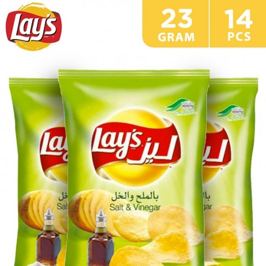 Lays Potato Chips Salt Vinegar 14x23 g