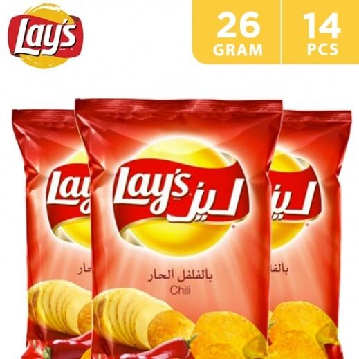 Lays Potato Chips Chilli Flavour 14x26 g