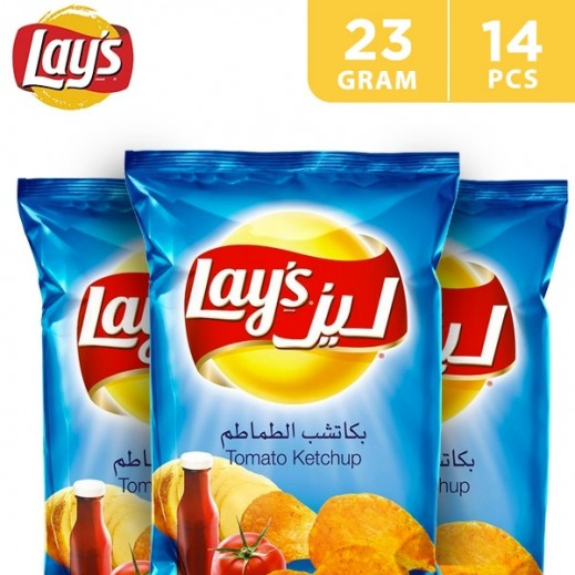 Lays Potato Chips Ketchup Flavour 14 x 23 g
