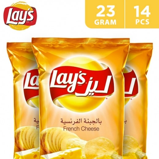 Lays Potato Chips French Cheese 14x23 g