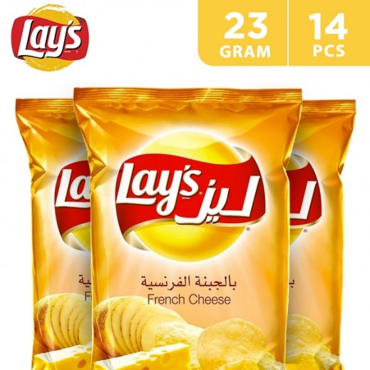 Lays Potato Chips French Cheese 14 x 23 g