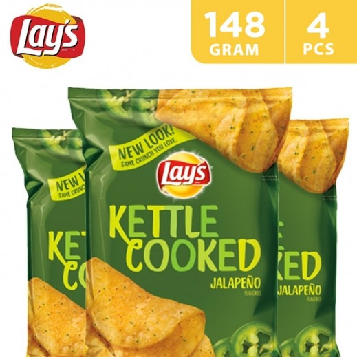 Lays Kettle Cooked Jalapeno 4 x 184 g