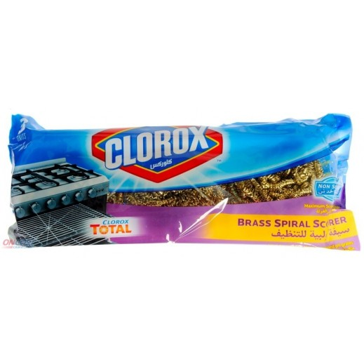 Clorox Brass Spiral Scourer - 3 Pieces