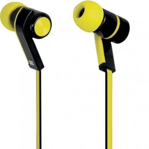 Promate Brazen Universal Sporty Stereo Earphones Yellow