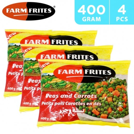 Farm Frites Frozen Green Peas & Carrots 4 x 400 g