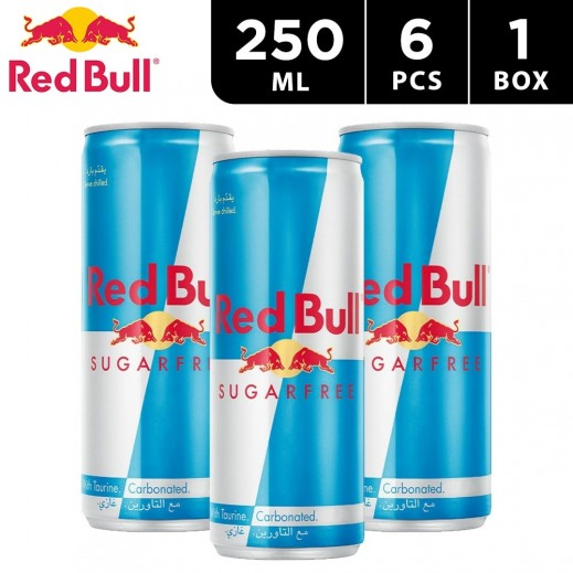 Red Bull Sugar Free Energy Drink 6 x 250 ml