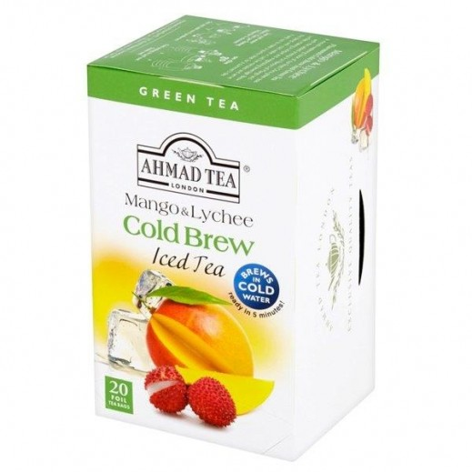 Ahmad Tea Chest Cold Brew Iced Tea Mango & Lychee 20 Bags