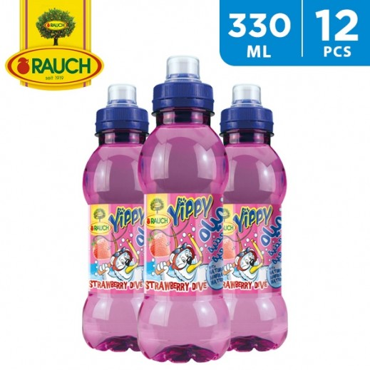 Rauch Yippy Strawberry Dive Juice 12 x 330 ml