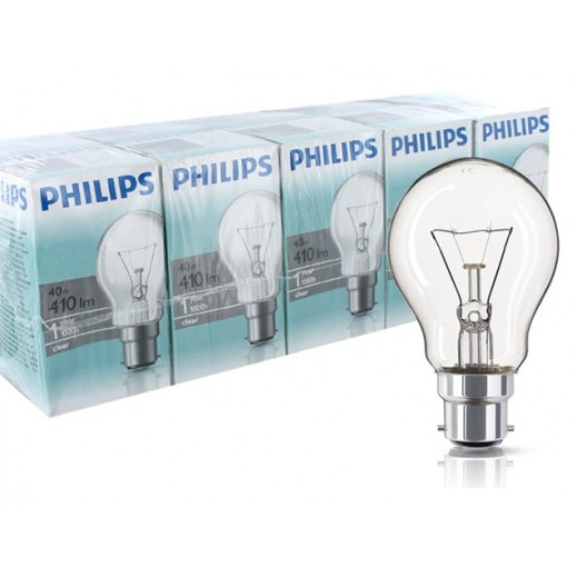 Wholesale - Philips Classictone 40 w B22 Clear (30 pieces)