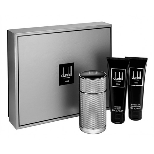 Dunhill Icon Gift Set For Him EDP 100 ml + After Shave + Shower Gel