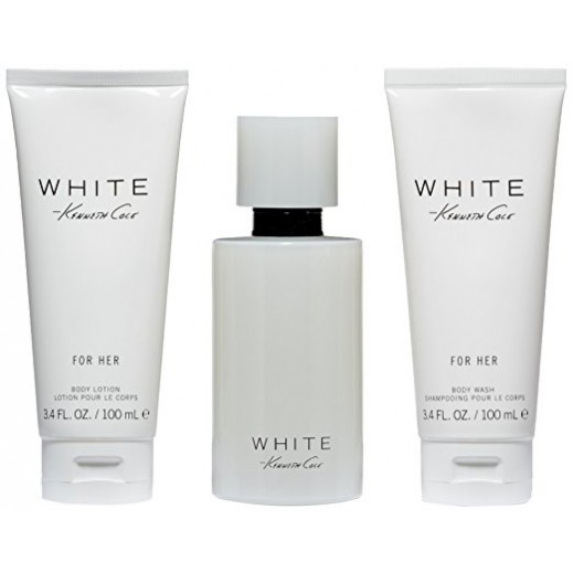 Kenneth Cole White Gift Set For Her EDP 100 ml + Body Lotion 100 ml + Shower Gel 100 ml - delivered by Beidoun