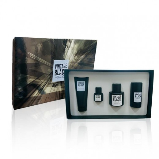 Kenneth Cole Vintage Black Gift Set For Him EDT 100 ml + Mini 15 ml + After Shave Balm 100 ml + Deodorant 75 ml - delivered by Beidoun