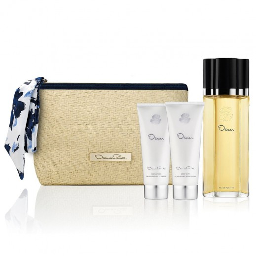 Oscar De La Renta Spring Gift Set For Her EDT 100 ml + Body Lotion 100 ml + Body Bath 100 ml + Bag - delivered by Beidoun
