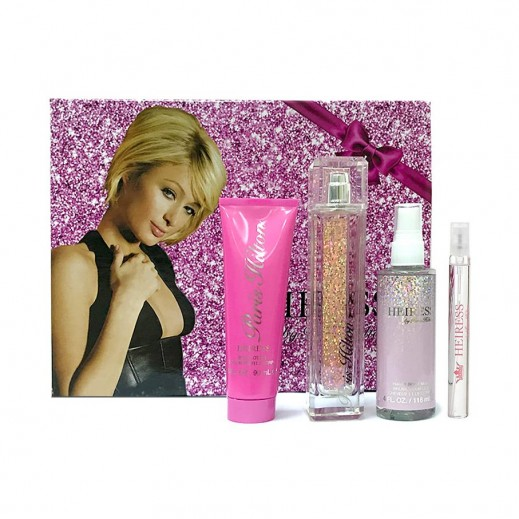Paris Hilton Heiress Gift Set For Her EDP 100 ml + EDP 10 ml + Body Lotion 90 ml + Hair & Body Mist 118 ml - delivered by Beidoun