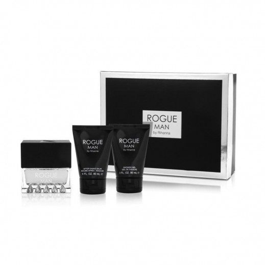 Rihanna Rouge Man For Him EDT 100 ml + After Shave Balm 90 ml + Shower Gel 90 ml - delivered by Beidoun