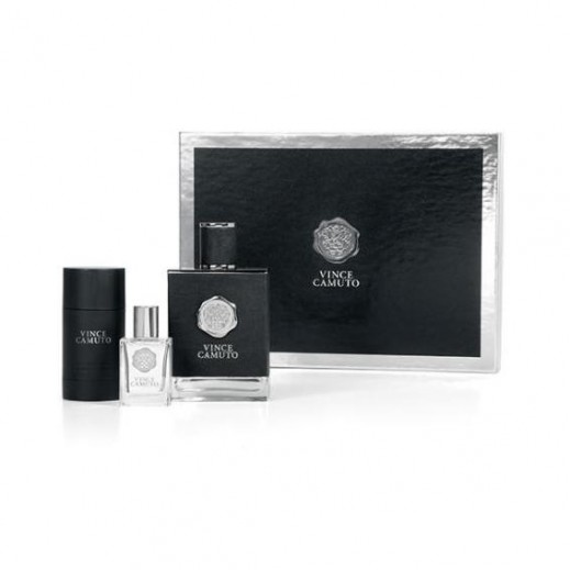 Vince Camuto Gift Set For Him EDT 100 ml + EDT 15 ml + Deodorant Stick 71 g - delivered by Beidoun