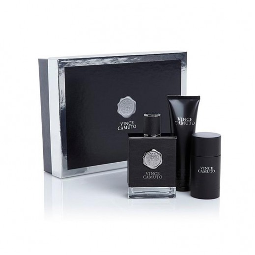 Vince Camuto Gift Set For Him EDT 100 ml + After Shave Balm 90 ml + Deodorant Stick 71 g - delivered by Beidoun