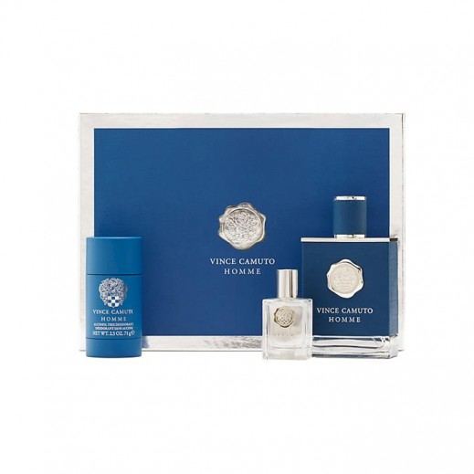 Vince Camuto Homme Gift Set For Him EDT 100 ml + EDP 15 ml + Deodorant Stick 71 g - delivered by Beidoun