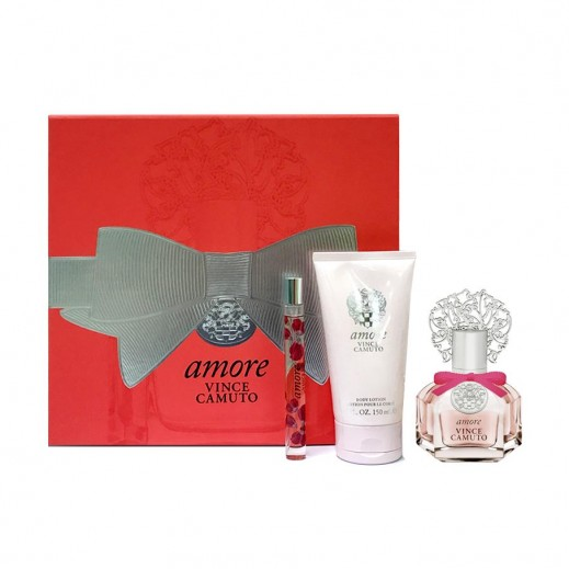 Vince Camuto Amore Gift Set For Her EDP 100 ml + EDP 10 ml + Body Lotion 150 ml - delivered by Beidoun after 4 Working Days