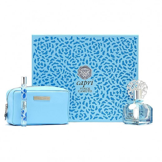 Vince Camuto Capri Gift Set For Her EDT 100 ml + EDT 10 ml + Pouch - delivered by Beidoun