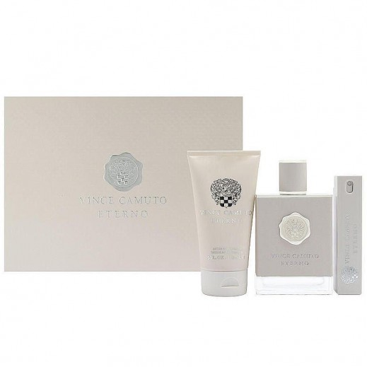 Vince Camuto Eterno Gift Set For Him EDT 100 ml + EDT 15 ml + After Shave 150 ml - delivered by Beidoun after 4 Working Days