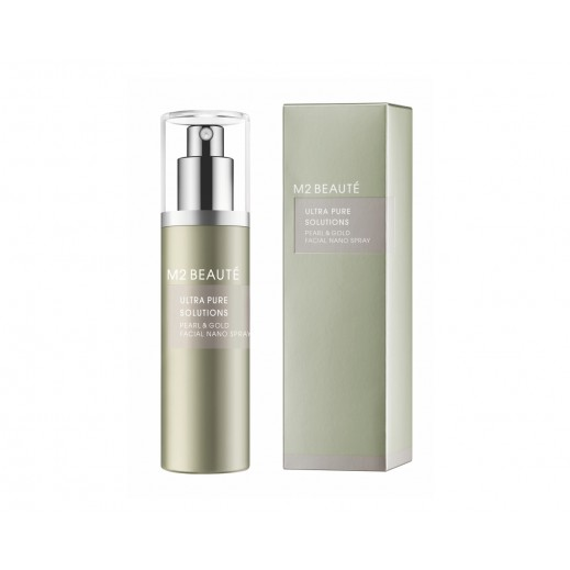 M2 Beaute Ultra Pure Solutions Pearl & Gold Facial Nano Spray 75 ml - delivered by Beidoun